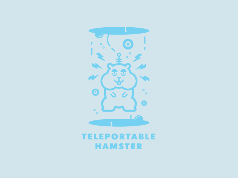Teleportable Hamster illustration design