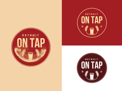 Detroit on Tap - Unused beer glass badge logo