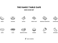 The Family Table Cafe - Icon Set