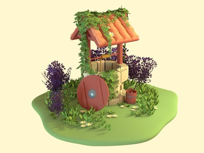 Wishing Well concepts autodesk maya 3d graphic