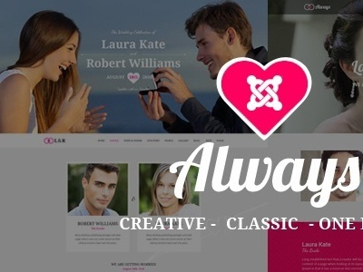 ALWAYS - Responsive Joomla Wedding Template With Page Builder girl friend anniversary wedding sp page builder pro portfolio bootstrap blog joomla theme responsive parallax one page multipage modern marriage wedding joomla helix3 drag and drop creative couple celebration