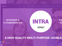 Intra - Multi-Page + One Page Joomla Theme