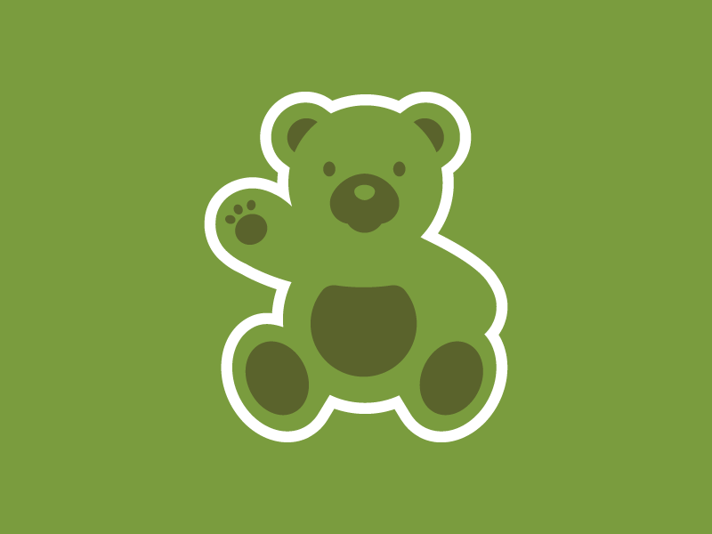 Sitter sticker iconic bear illustration