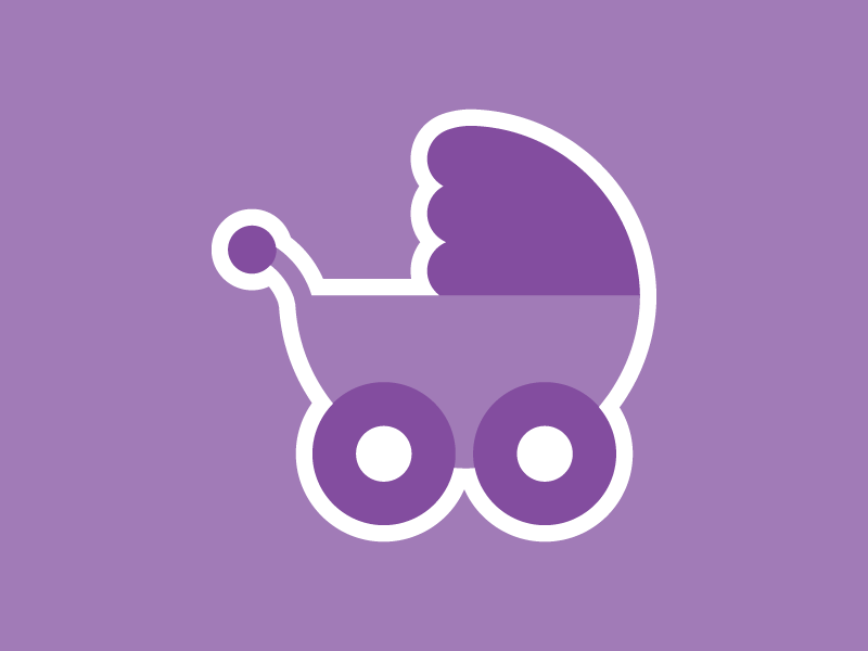 Canadian Nanny stroller baby sticker iconic nanny illustration
