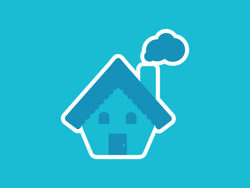 House Sitter sticker iconic house illustration