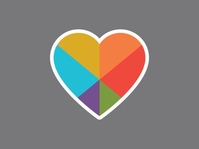 CareGuide Heart sticker iconic icon illustration