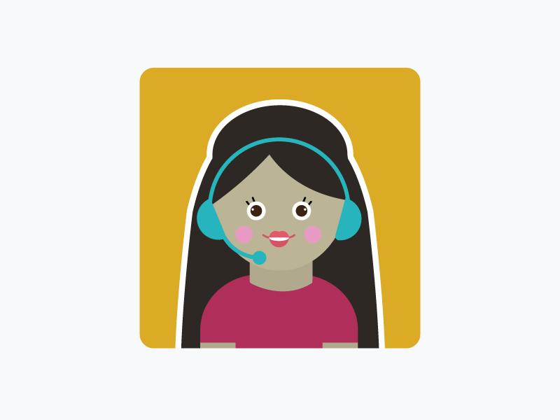 Customer Service Female female woman vector customer service illustration