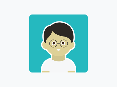 Dude dude with glasses vector illustration