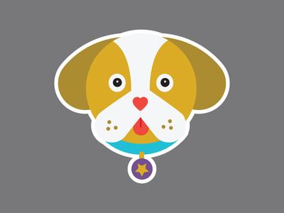 Bulldog  dog face bulldog dog illustration vector