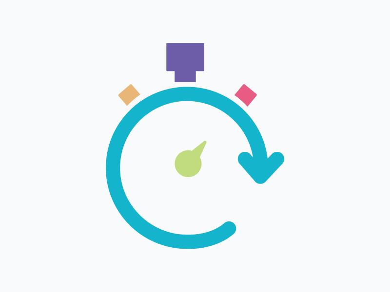 Icon – Quick Reponse iconic timer icon illustration