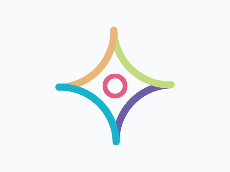 Icon – Qualified Candidates  icon diamond colourful vector illustration