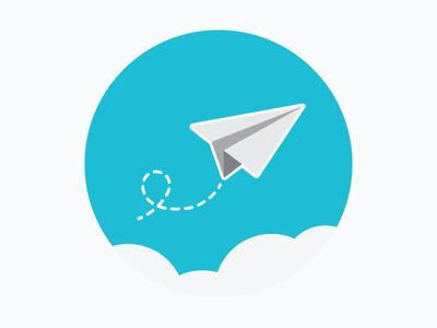 Paper Airplane clouds airplane paper airplane contact illustration icon