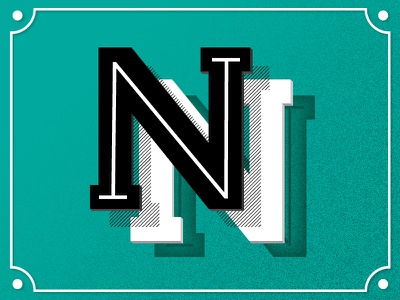 36 days of type - N typo grain gradient black green white n letter lettering 36daysoftype 36days