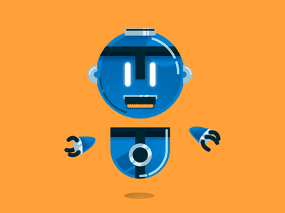Rowenta Bot - Aspirajutor float vacuum cleaner vacuum hands bot funny moustache orange blue robot