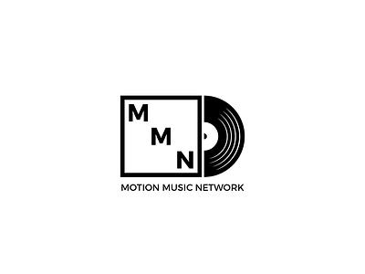 Motion Music Network Logo Design krado studio disc vinyl band music white logofolio black design logo design logo