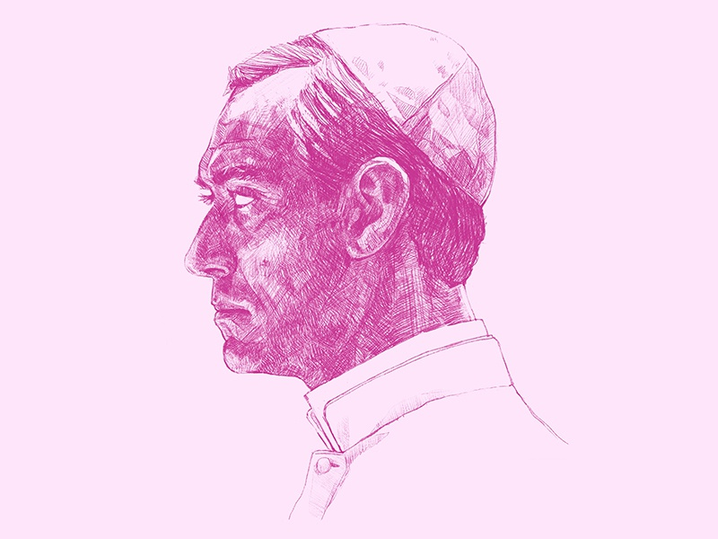 The Young Pope Portrait sketching art saint pope digital art digital 2d portrait challenge portrait art portrait pink ipadproart ipad pro ipadpro procreate app procreate digital drawing sketch illustration drawing