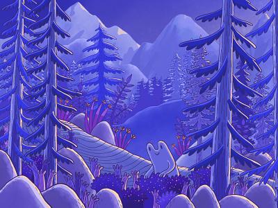 Scene De Montagne Ter landingpage mountains procreate digital painting colors nature illustration