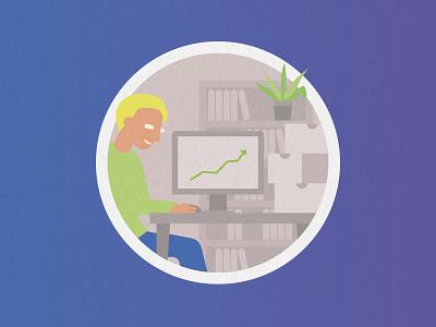 Solidons Illustration - Développement des entreprises sociales impact social finance start-up colors illustration