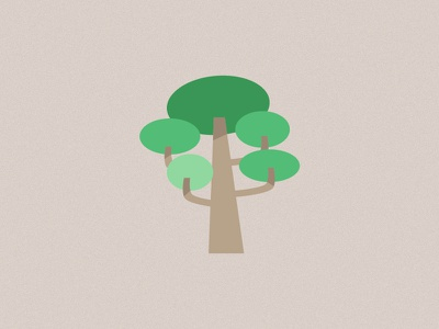 Just a Tree - 1 green vegetation tree flat design illustration