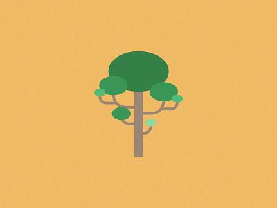 Just a Tree - 3 green vegetation tree flat design illustration