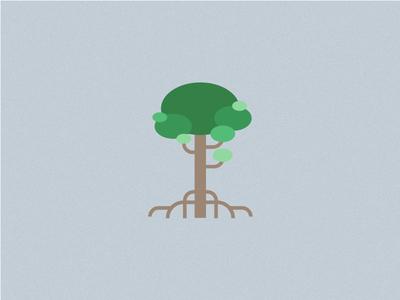 Just a Tree - 5 green vegetation tree flat design illustration