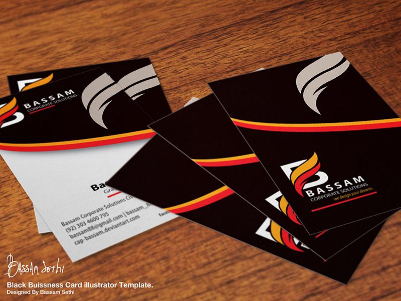 Black Business Card Design by Bassam Sethi - Dribbble