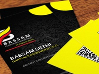 Black And Yellow Business Card Design By Cap Bassam