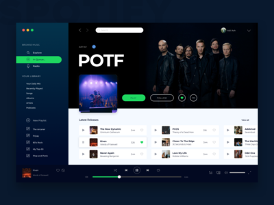Spotify designs, themes, templates and downloadable graphic