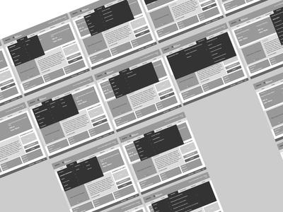Wireframes: navigation flow