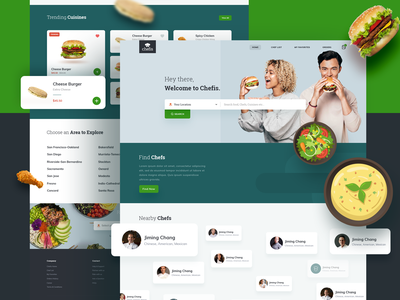 Chefis Web cuisine dishes fast food health hotel restaurant design web ui website builder fresh chef food