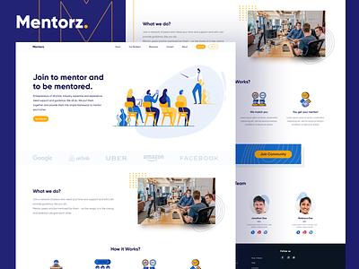 Mentorz Web dailyui userinterface inspiration photoshop ui desing startup fianance corporate professional colour uidesign web ui websites website business mentoring