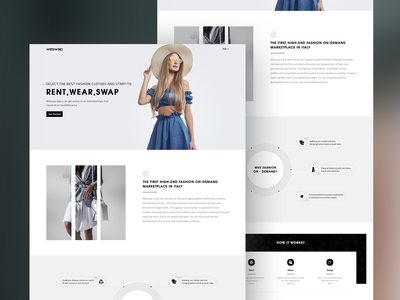 WeSwap - Rent, Wear, Swap highquality cloth blackandwhite uidesign minimal fashion xd design website design