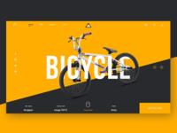 Bike website UI Design