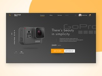 Suttershot website landing page UI design
