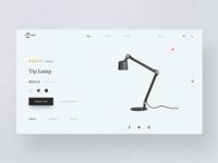Minimalist Lamp Website Landing page