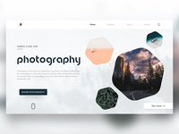 Stunning Photography Website Landing page