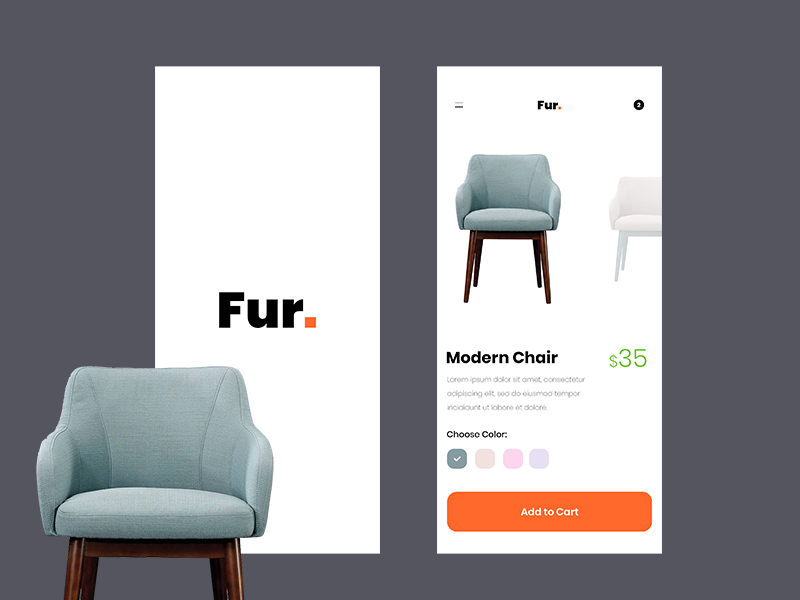 Online Furniture Retail App! illustrator photoshop inspiration uidesign wireframing dailyui ux ui appdesigner designinspiration appdesign userinterface