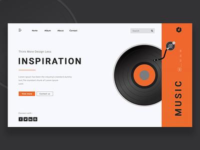 Music Info Landing Page illustrator photoshop inspiration uidesign wireframing dailyui ux ui webdesigner designinspiration webdesign userinterface