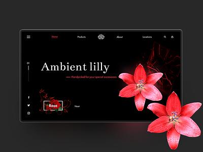 Floriculture Landing UI illustrator photoshop inspiration uidesign wireframing dailyui ux ui webdesigner designinspiration webdesign userinterface