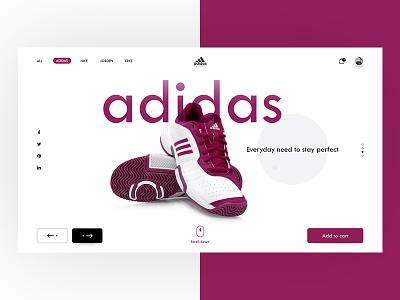 Adidas Website Landing UI Glimpse illustrator photoshop inspiration uidesign wireframing dailyui ux ui webdesigner designinspiration webdesign userinterface