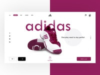 Adidas Website Landing UI Glimpse