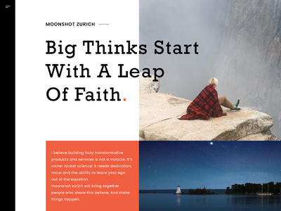 Moonshot Landing Page Redesign minimal illustration uidesign webdesigner design inspiration designinspiration webdesign userinterface dailyui photoshop ux ui