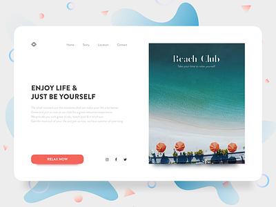 Enjoy the little things! orange white space clean minimal wealth beach ui happy design