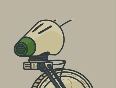 D-0 Star Wars droid illustration illustration flat design d-0 droid star wars