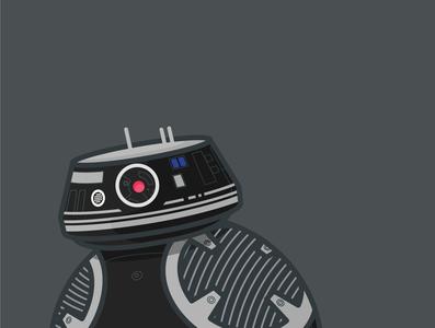 BB9-E Star Wars droid illustration droid bb9e flat design tutorial illustration star wars