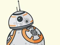 BB9-E Star Wars droid illustration flat design illustration bb8 droid star wars