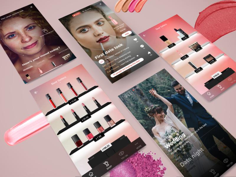 Makeup App - Design Concept makeup app makeup user experience digital mobile app design interface ux ui