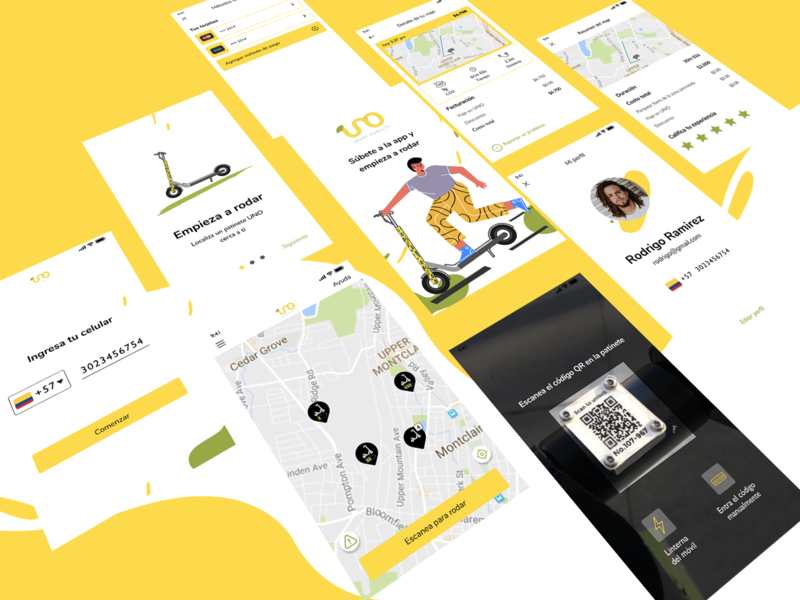 UNO Smart Mobility user experience app mobile interface design ux ui