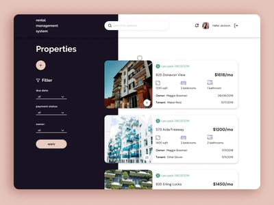 Rental Management System - Web walkthrough animation property real estate system bespoke analytics web
