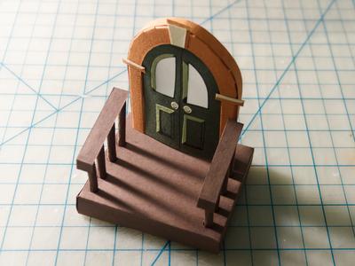 Door doors entryway chiaroscuro shadows cut paper illustration papercut doorway door exacto paper